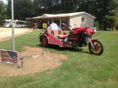 V8 Automatic flathead trike motorcycle