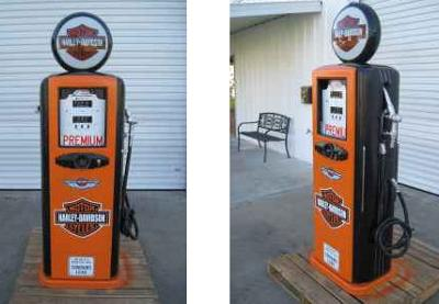 1940 1950 Vintage Harley Davidson Gas Pump