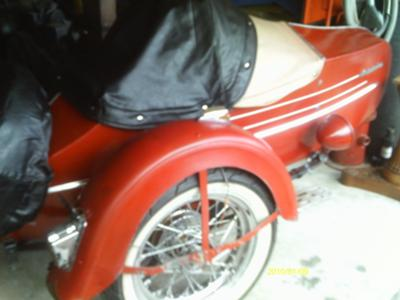 Vintage 1938, 1939, 1940 Harley Davidson Motorcycle Sidecar