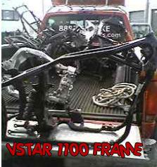 yamaha vstar 1100 frame used