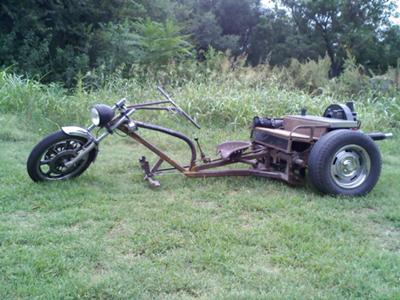 Custom Volkswagen VW RAT ROD TRIKE 1600CC (this photo is for example only; please contact seller for pics of the actual motorcycle for sale in this classified)