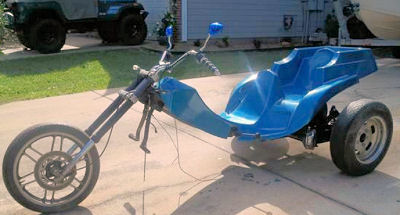 VW Trike Chopper Project Motorcycle