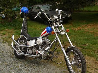 #11 Captain America Chopper with Patriotic Red White and Blue Stars and Bars paint job for sale by owner in Washington WA State