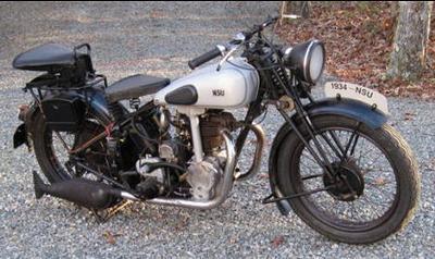 1934 NSU 501 OSL Motorcycle
