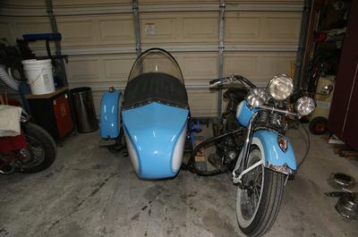 Old Titled 1940 Harley Davidson U Model Motorcycle with Side Car for sale by owner