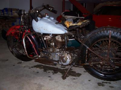 Barn fresh 1945 Indian 45 scout