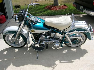 1947 Harley Davidson Panhead for Sale by owner in FL Florida see the matching numbers in the other photos