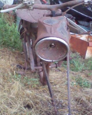 Original 1949 Harley Davidson Hummer parts Rubber band front end