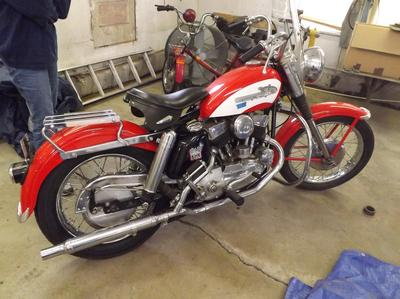 1956 Harley KHK - This motorcycle was among the last of the Harley Davidson Flatheads