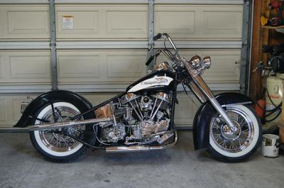Picture of my 1956 Panhead Harley Davidson FLH Motorcycle