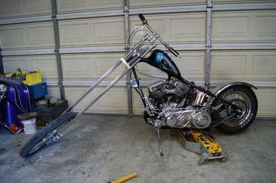 1957 Harley Panhead Chopper titled as a 1957 Harley Davidson FLH