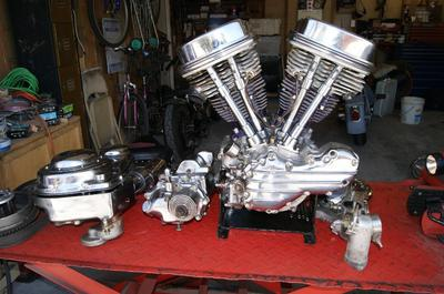 1963 Harley Panhead FLH Engine