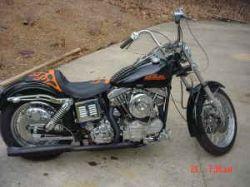 Custom Black Motorcycle Paint 1970 Harley Davidson FX Shovelhead