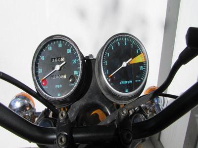 OEM Candy Gold Paint Color 1970 Honda CB750 KO  Built Nov 1969 instrument panel Odometer