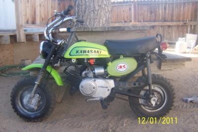 1971 kawasaki  mt1 mini bike