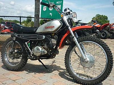 1971 Suzuki DR-Z250 TS250 two-stroke dirt bike