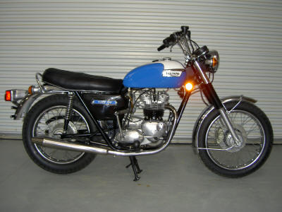 Blue 1973 Triumph TR7 Tiger 750cc (The bike in this pic is for example only. Please contact the seller to request pictures of the actual vintage motorcycle for sale in this classified)