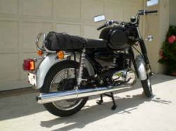Black and Silver 1974 MZ TS 250 Motorcycle
