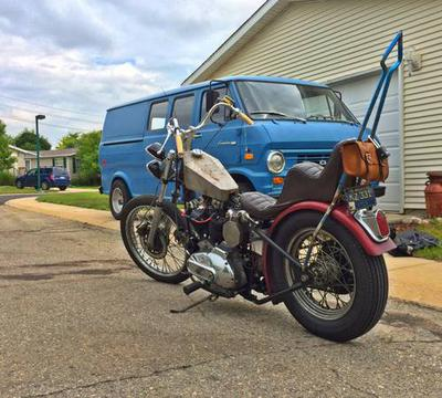 1975 Harley Davidson Ironhead Sportster Chopper Project Motorcycle