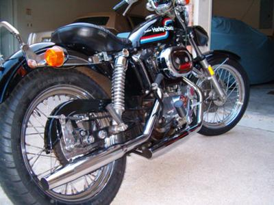 Vintage black 1975 Harley Davidson  XLCH 1000 motorcycle (this motorcycle is for example only; please contact seller for pics of the actual bike for sale)