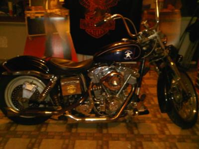 Classic 1975 Harley Davidson FXE Superglide