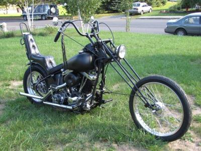 1976 Harley Davidson Old School Chopper (this photo is for example only; please contact seller for pics of the actual motorcycle for sale in this classified)