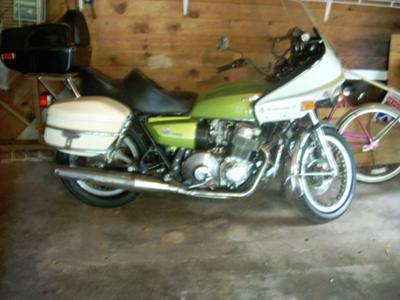 Muskrat Green 1976 Honda 750  Automatic Motorcycle