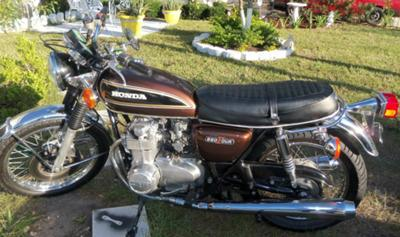 1976 HONDA CB550 FOUR (example of a similar motorcycle as the in this ad)