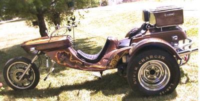 1976 VW trike motorcycle w custom paint job