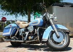 1977 Harley Davidson Electra Glide FLHX w vintage robin's egg blue paint color