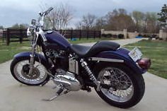 1977 harley davidson sportster 1000 1100 Harley-Davidson bored out metallic purple custom paint