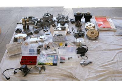 Ton of Stuff with the 1978 Harley Davidson FL Basket Case for Sale