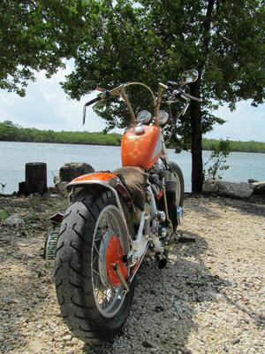 Custom 1978 Honda CB750K Bobber Motorcycle