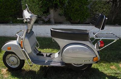 1979 Vespa Piaggio P125X Italian scooter w original silver metallic paint