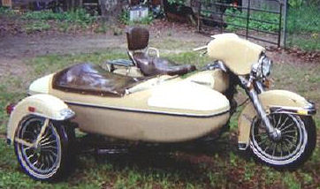 1979 Electra Glide Harley Davidson FLH Classic with motorcycle sidecar