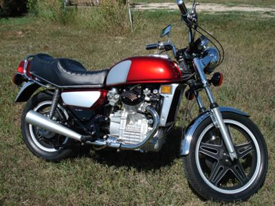 Candy Apple Red 1980 Honda CX500 Deluxe Motorcycle Custom