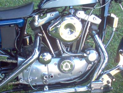 1980 Ironhead Harley Davidson Sportster Engine and Exhaust