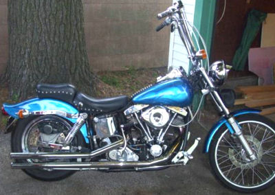 1981 Harley Davidson FXS Lowrider w Custom ghost flame motorcycle paint job with heavy metal flake