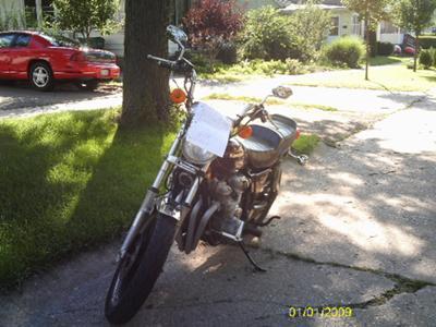 Purple 1981 Kawasaki 750 LTD