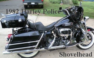 1982 Harley Shovelhead Police Motorcycle King of the Highway