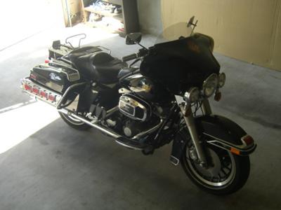 Black 1983 Harley Davidson Electraglide FLHT Electra Glide