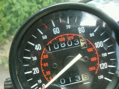 1983 Honda CX650 Custom Odometer reading