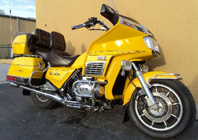 1984 Goldwing GL1200A GL 1200A Touring Cruiser w Custom Pearl Yellow Paint color (example only)