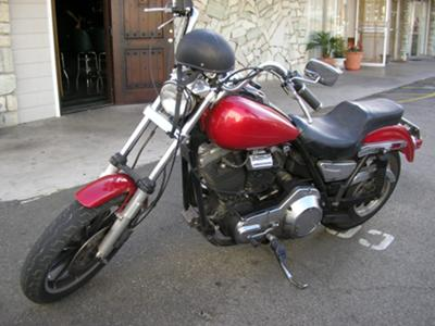 CHERRY RED 1985 Harley Davidson FXRS Low Rider Lowrider
