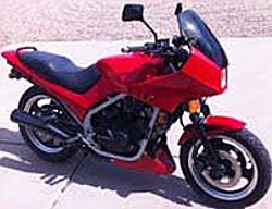 Red 1985 Honda Interceptor