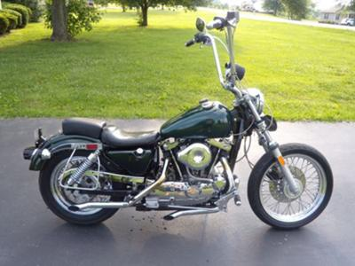 1985 Harley Davidson Ironhead Sportster (this photo is for example only; please contact seller for pics of the actual motorcycle for sale in this classified)