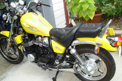 Yellow 1985 Yamaha Maxim XJ700X
