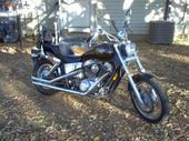 Black 1988 Honda Shadow 1100
