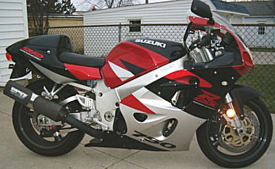 1994 Suzuki GSXR 750 GSX-R with Vance & Hines Exhaust Pipes with Power Commander.  FIRST YEAR FUEL INJECTED