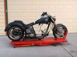 Black Marble Paint -Rainbow Metal Flake 1996 Custom Chopper Guys Rolling Motorcycle Chassie frame
